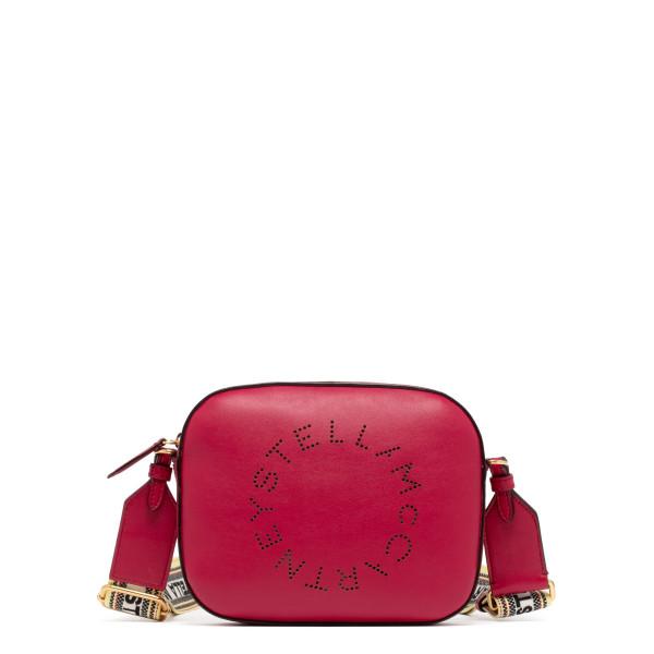 Red logo mini camera bag