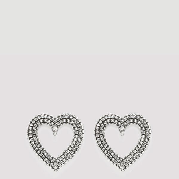 Heart strass earrings