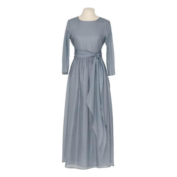 2901116d630 Desio dusty blue cotton and silk dress. MAX MARA