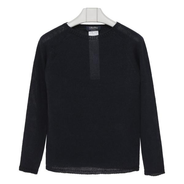Giolino navy blue linen sweater