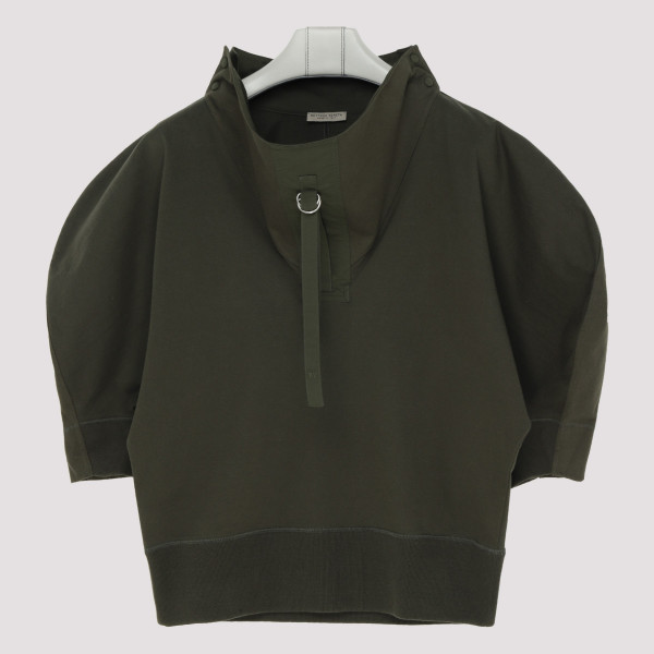 Army green cotton sweatshirt