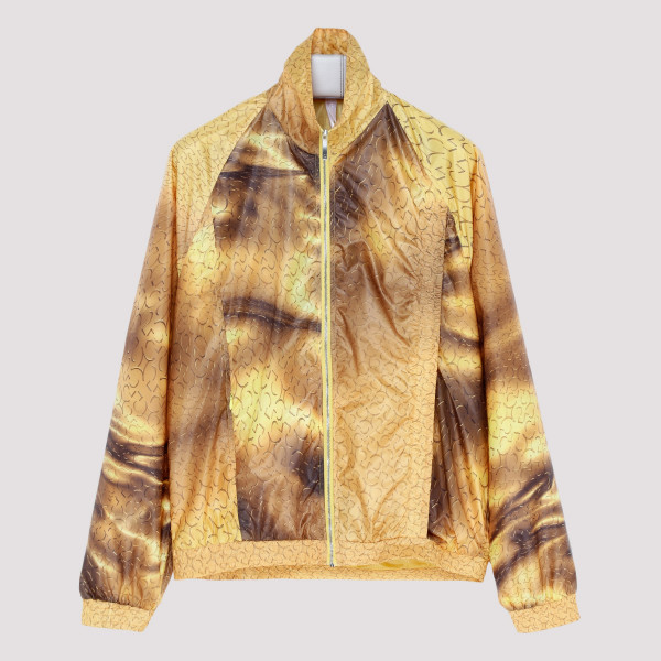 Yellow abstract print jacket