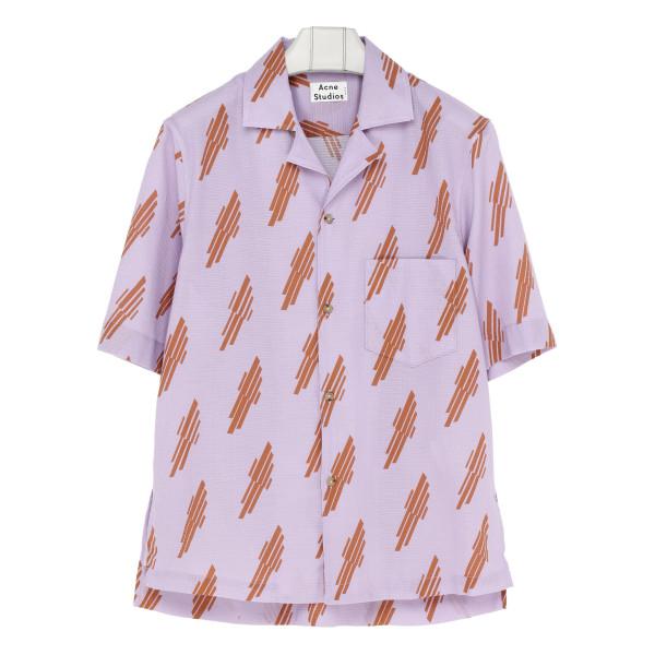 Purple and orange printed shirt