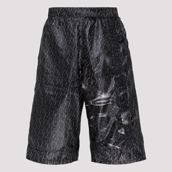 Black Monogram Track Pants
