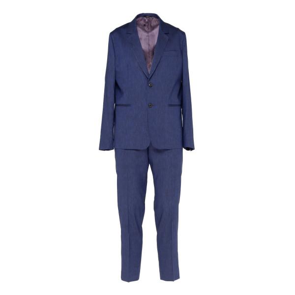Blue tailored fit suit