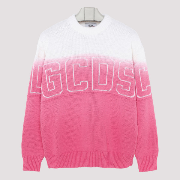 Logo pink and white sweater