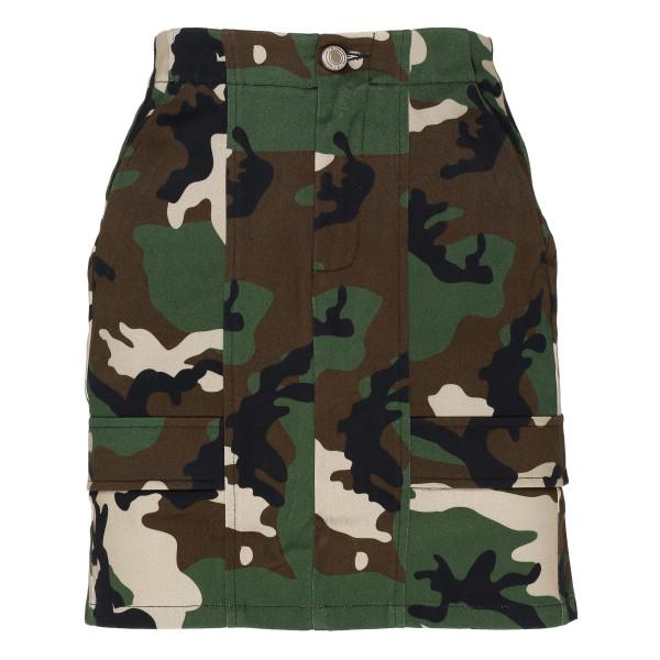 Camouflage mini skirt