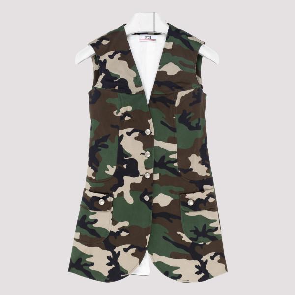 Camouflage pattern vest
