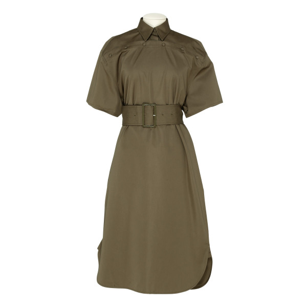 Army green cotton chemisier