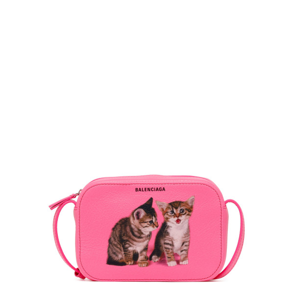 Everyday XS pink camera bag with kitties