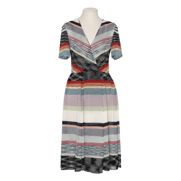 Multi stripes knitted dress