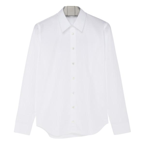White cotton shirt with logo
