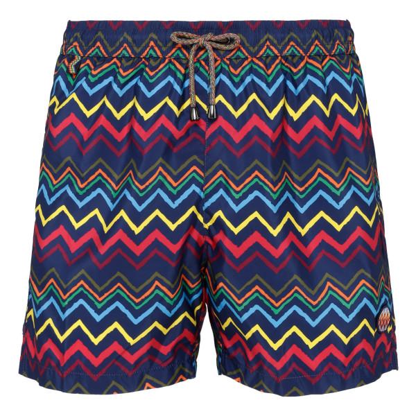 Multicolor zigzag swim shorts