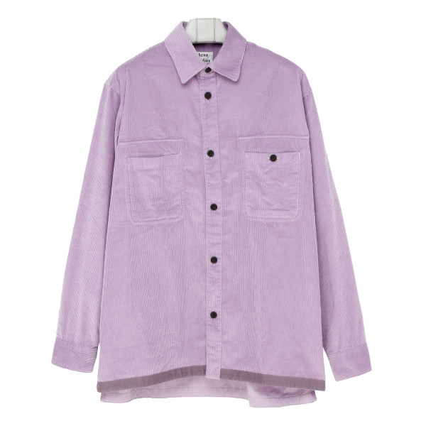 Lilac Purple Courduroy shirt