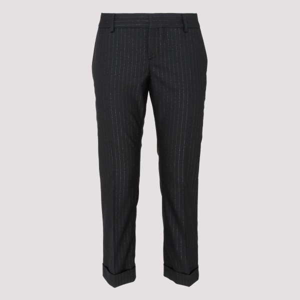 Black wool pants with...