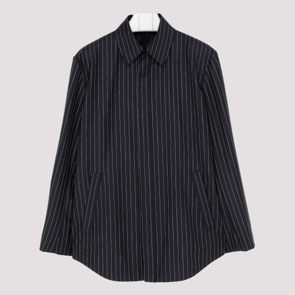 Dark navy tailored striped...