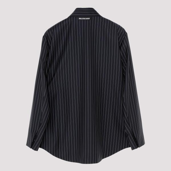 cfc4b0b1af Dark navy tailored striped shirt