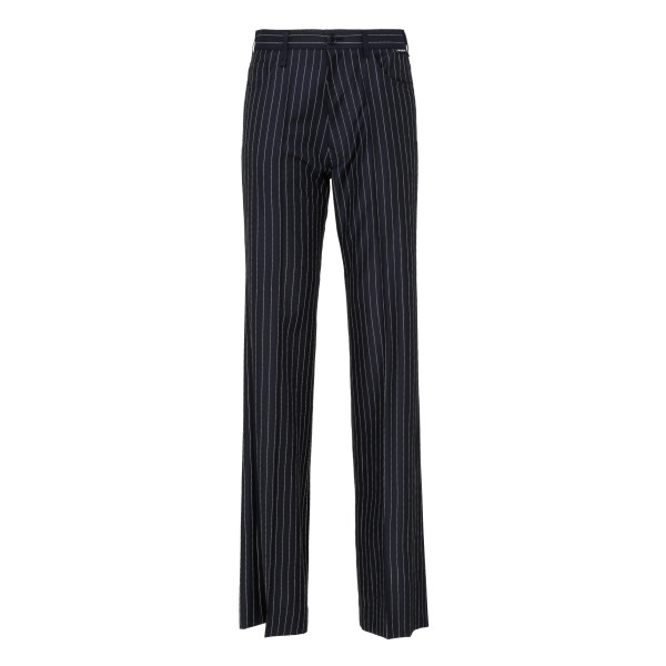 Dark navy and white pinstripe pants