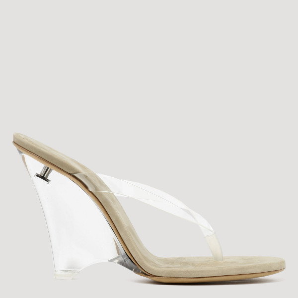 PVC and plexi thong sandals
