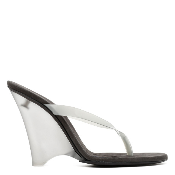 PVC and matte Perspex thong sandals