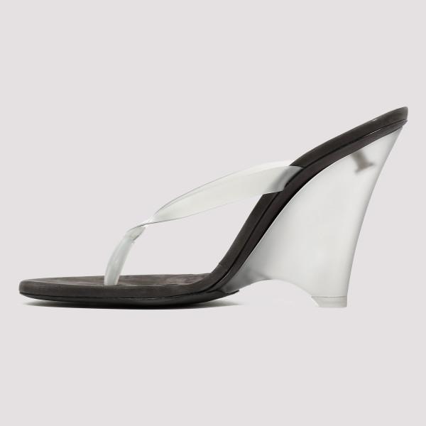 5db118e2d PVC and matte Perspex thong sandals