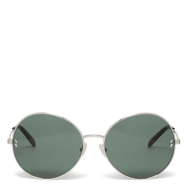 Silver metal round sunglasses