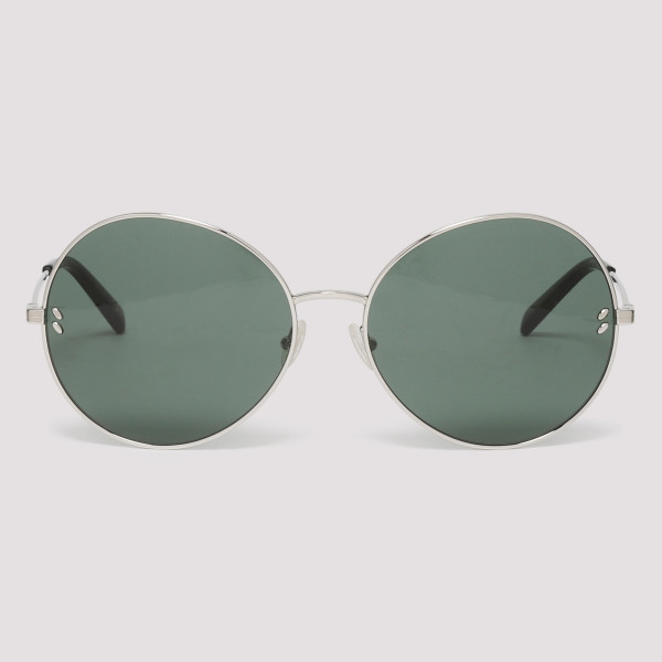 0139371037d40 Silver metal round sunglasses