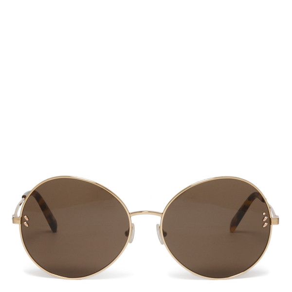 Golden metal round sunglasses