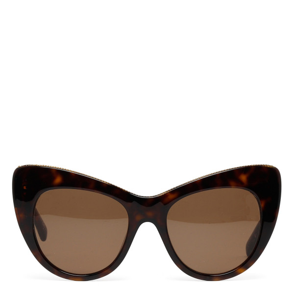 Dark brown tortoiseshell acetate sunglasses