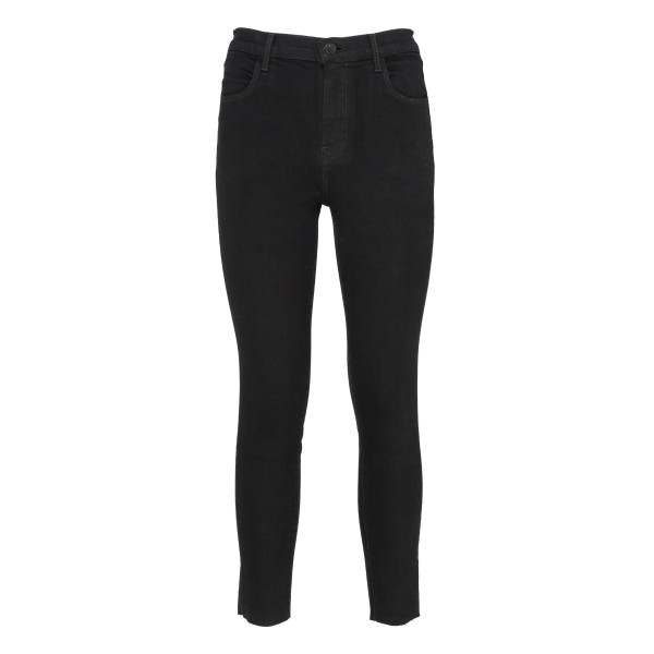 Black high-rise super-skinny jeans
