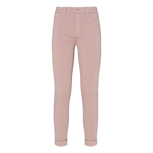 Pink high-rise super-skinny jeans