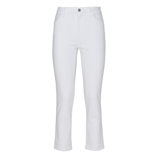 White high rise jeans
