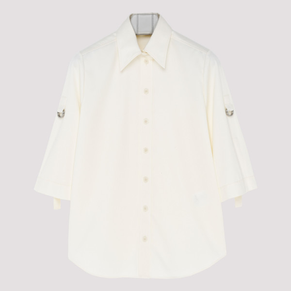 White Military shirt with...