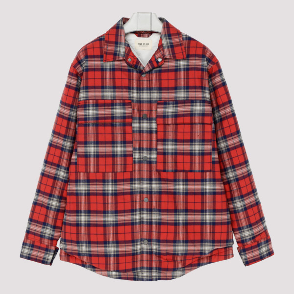 Red tartan checkered shirt