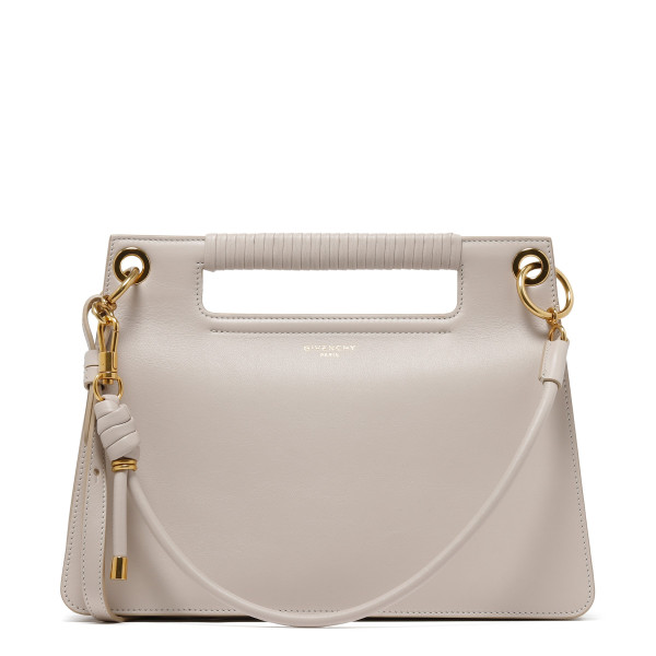 Natural smooth leather Medium Whip bag