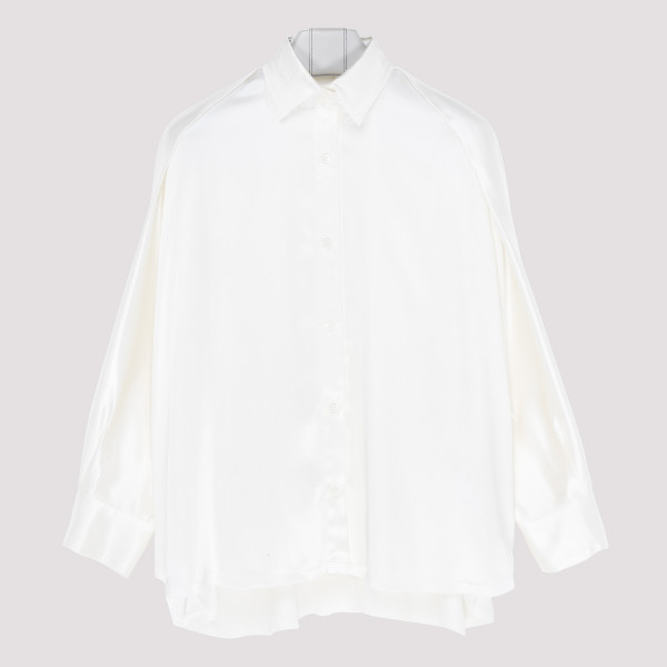 White viscose oversize shirt