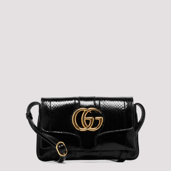 GG Marmont black python mini bag