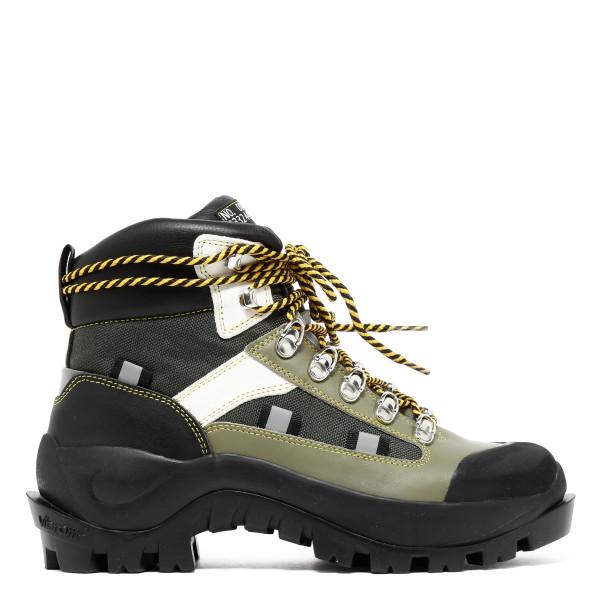 Green and black trekking booties