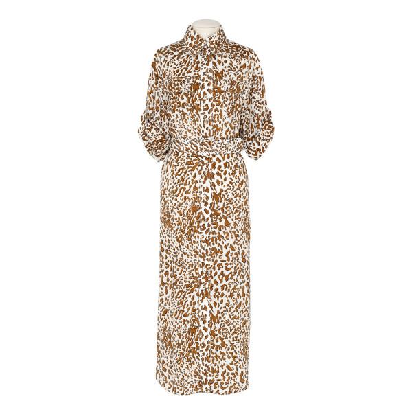 Leopard utility midi dress