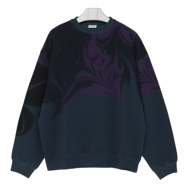 Petrol blue cotton sweatshirt