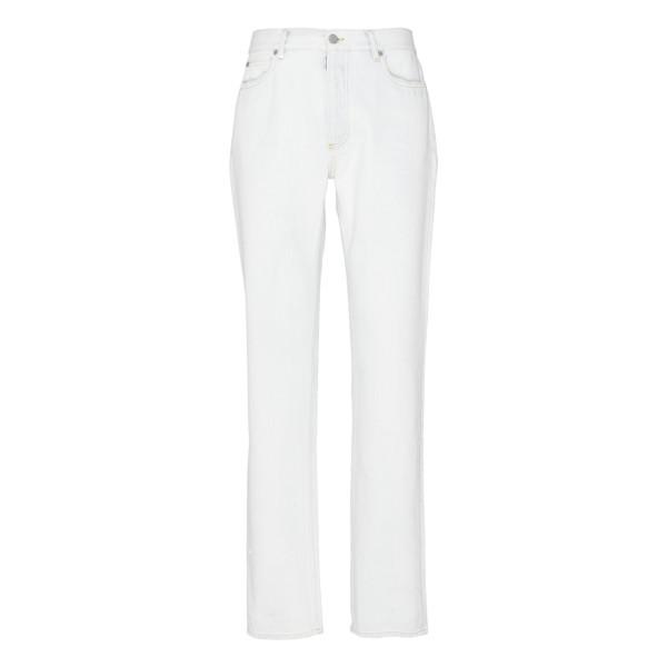 White wide-leg jeans