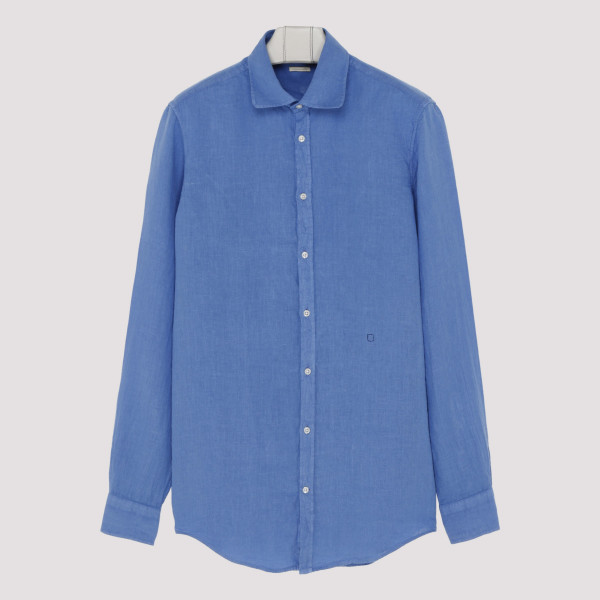 Blue crinkle effect shirt