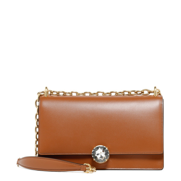 Miu Solitaire leather shoulder bag