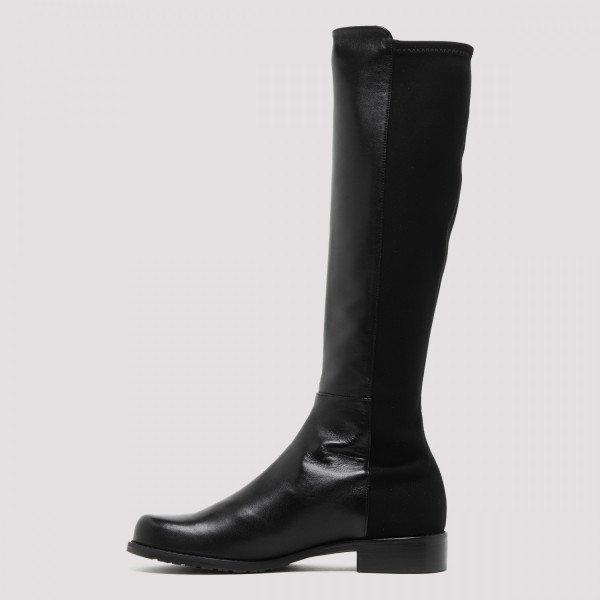 5050 black nappa and suede boots