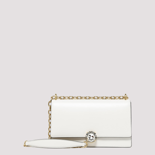 Miu Solitaire white leather...