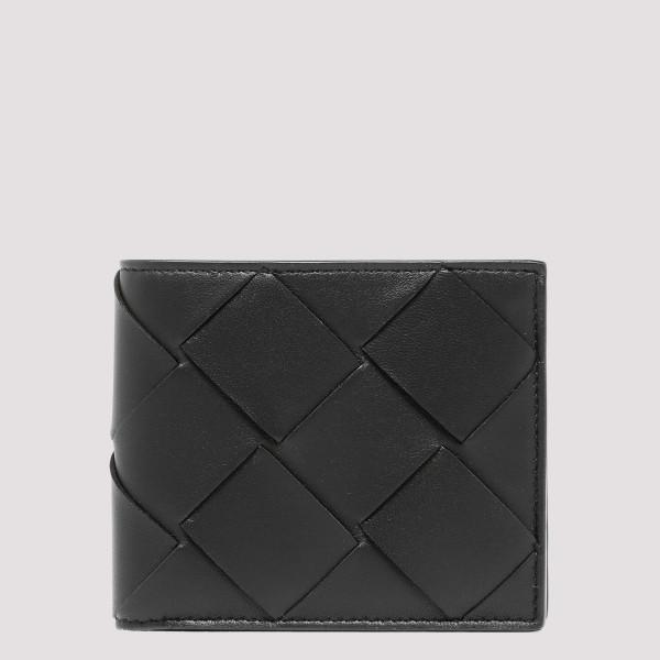 Black leather Intrecciato...