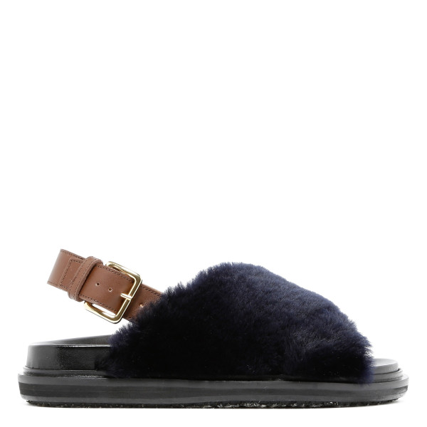Fussbett black shearling sandals