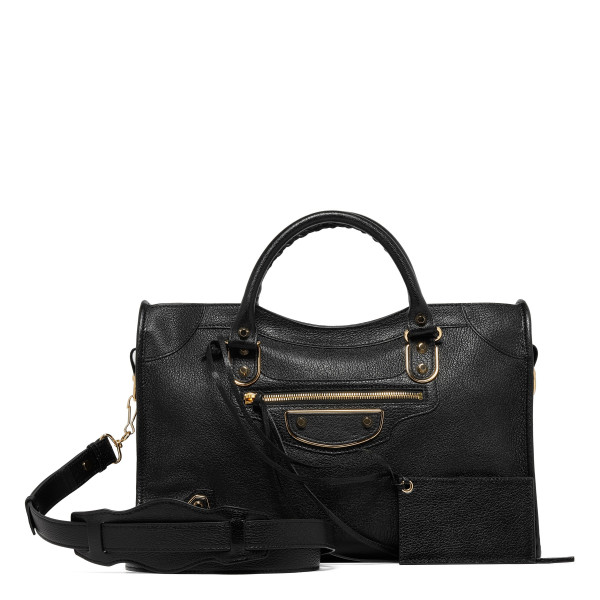 Classic City black bag with metallic edge