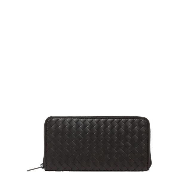 Dark brown intrecciato nappa wallet