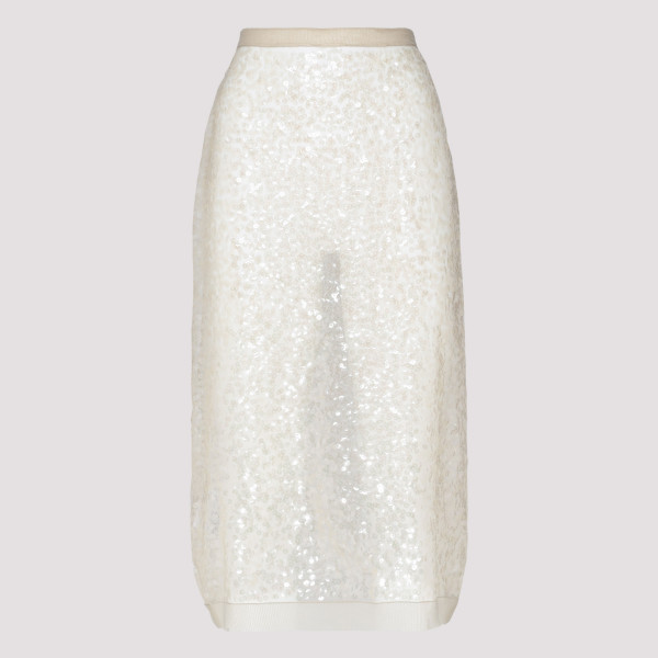 Nylon sequin sheath skirt